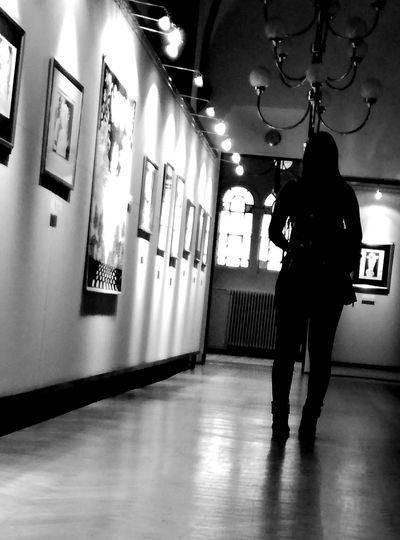 Shadows & Lights One Person One Woman Only Girl Mysterious Blackandwhite Walk Discovering People Full Length Paintings