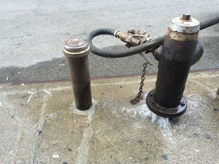 Fire Hydrant Street Water Leak Water Leak Waste Wasting Water NYC New York City Environment