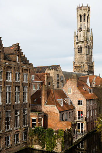Architecture Belfort Belgium Branch Building Exterior Built Structure Canal City Cityscape Clock Clock Tower Day History No People Outdoors Sky Tower Travel Destinations