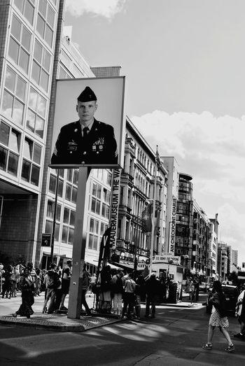 B&w Street Photography Berlin Checkpointcharlie