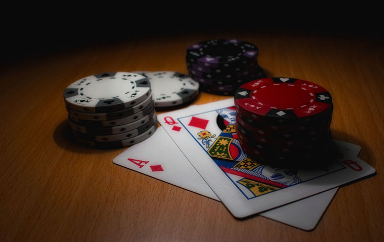 Game Indoors  Paper Playing Cards Poker Table Token Toy First Eyeem Photo