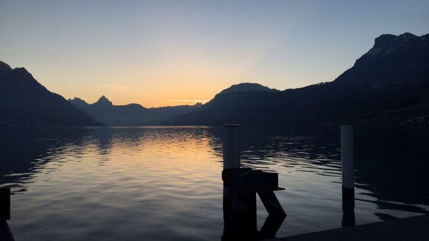Nofilter#noedit Mountain Sunrise 🇨🇭 Switzerland