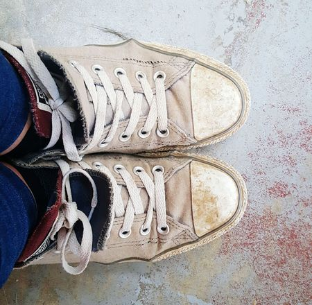 Shoes Mucky Dirty Broken Converse Old Trainers Sneakers Work Shoes  Tatty Laces