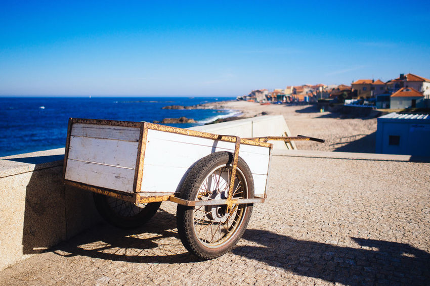fishermans transporter Beauty In Nature Blue Day From My Point Of View Getting Inspired Hikinggalicia Horizon Over Water Nature No People Outdoors Parked Parking Portugal Scenics Sea Shore Sky Stationary Sunlight Sunny Tranquil Scene Tranquility Travel Destinations Neighborhood Map