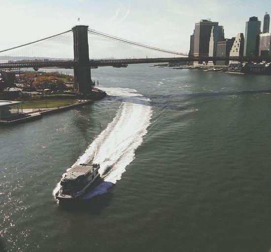 Over the East River, Manhattan Bridge, NYC NYC East River Brooklyn Bridge