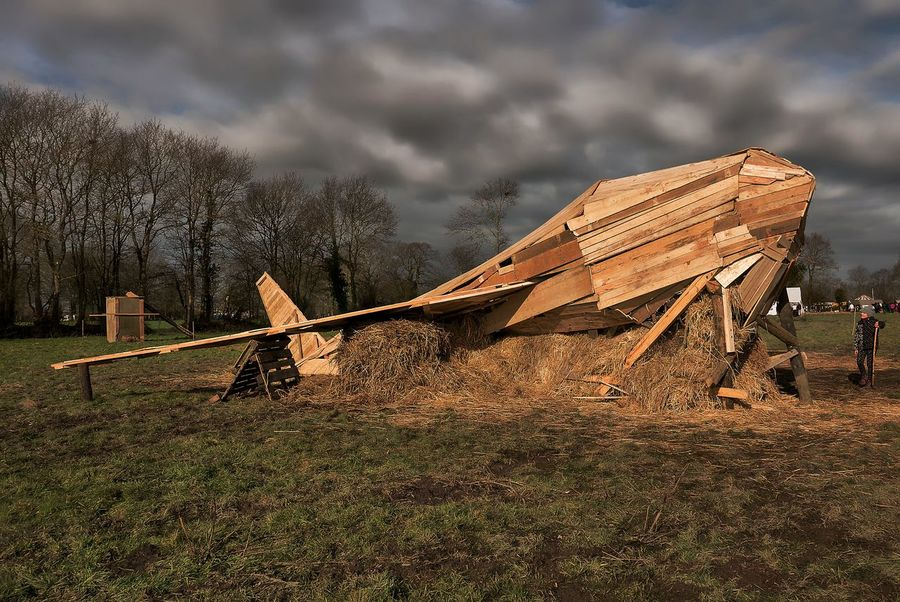 ZAD Notre Dame Des Landes Beauty In Nature Cloud - Sky Day Grass Landscape Nature No People Outdoors Sky Wood - Material