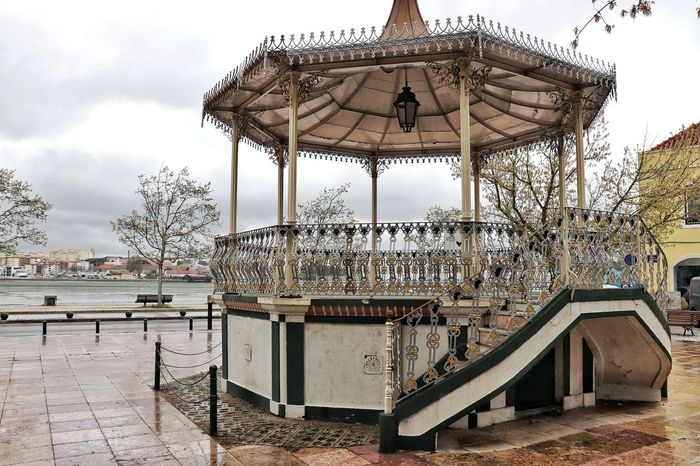 Coreto Típico, Amora Music Cultural Place Outdoors City Musical Bandstand Sky Architecture Built Structure Urban Scene