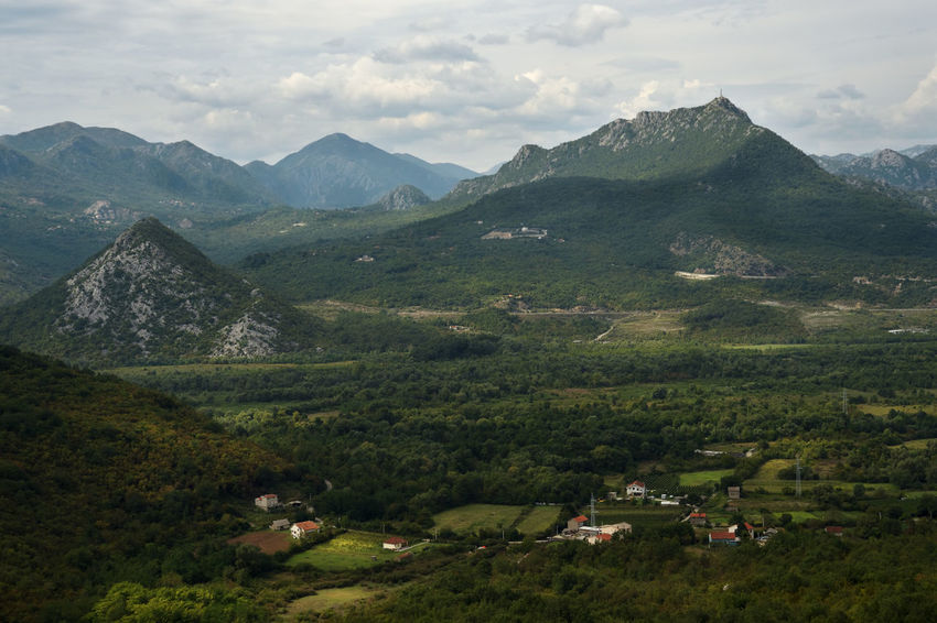 Montenegro, Mountain Landscape Nature Rural Scene Green Color Mountain Range Outdoors Cloud - Sky No People Day Sky Scenics Beauty In Nature