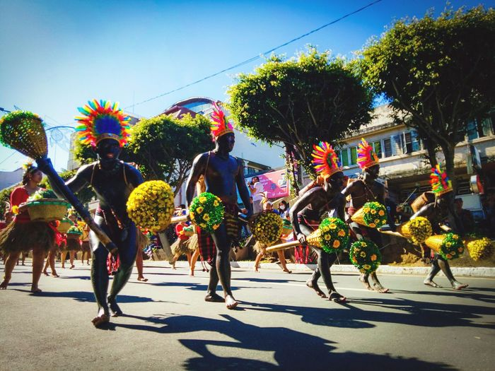 Carnival Crowds And Details Celebration Performance Day Multi Colored Real People Outdoors People Flowers Panagbenga PanagbengaFestival Colors EyeEm Diversity The Street Photographer - 2017 EyeEm Awards