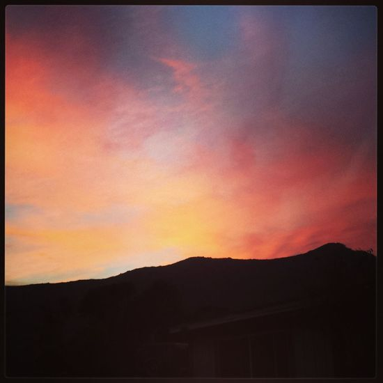 Fire In The Sky Sunset Catalina Mountains  Catalina Island