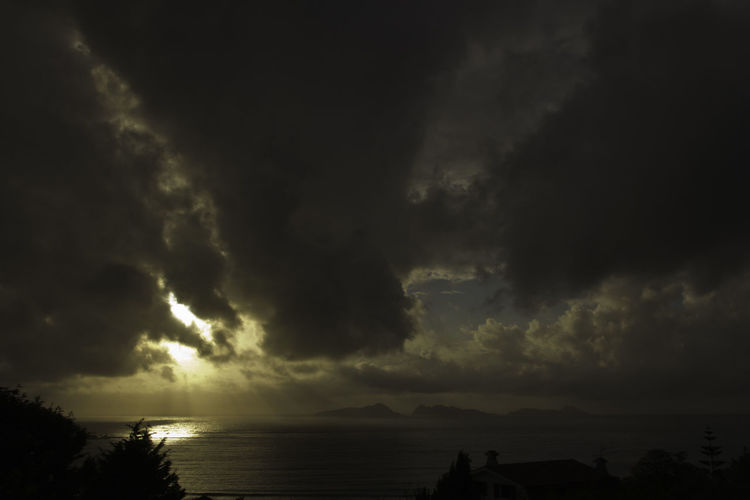 Beauty In Nature Coast Dramatic Sky Galicia Horizon Over Water Islands Islas Cies Nature No People Outdoors Power In Nature Scenics Sea Sky Storm Storm Cloud Sunset Tourism Tranquil Scene Travel Destinations Water Weather