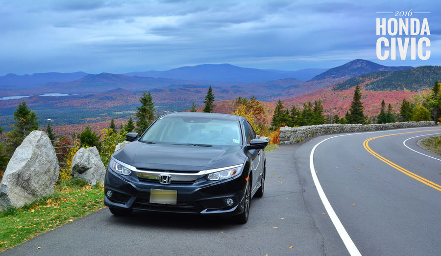The Drive Transportation Road Travel Mountain Driving Rural Scene Car Outdoors Landscape Mountain Road No People Nature Day New York Fall Foliage Lake Placid White Face Mountain Nature High Angle View Mountain Range 2016 2016 Honda Cvici Civic