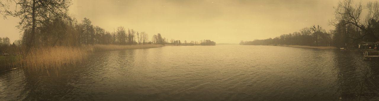 Lake Retro Winter Vintage Panorama Lakeshore Water Nature Beautiful Nature