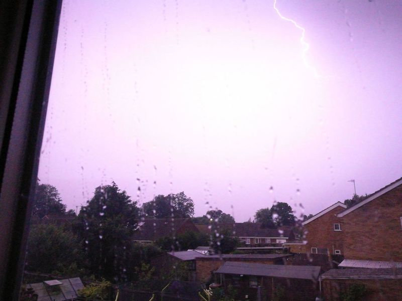 Thunderstorm Lightning Light In The Darkness Cambridgeshire No People Sky Nature Window Illuminated