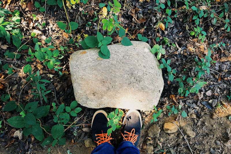 Stone Shoes Textures And Surfaces Standing Nature Outdoors
