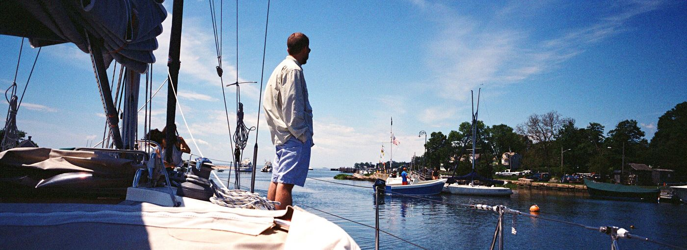 Film Xpan Recreational Boat Sea Water Nautical Vessel Transportation Sky Boat One Man Only Koduckgirl