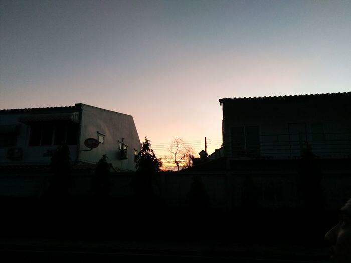Hope City Sunset Silhouette Sky Architecture Building Exterior Built Structure