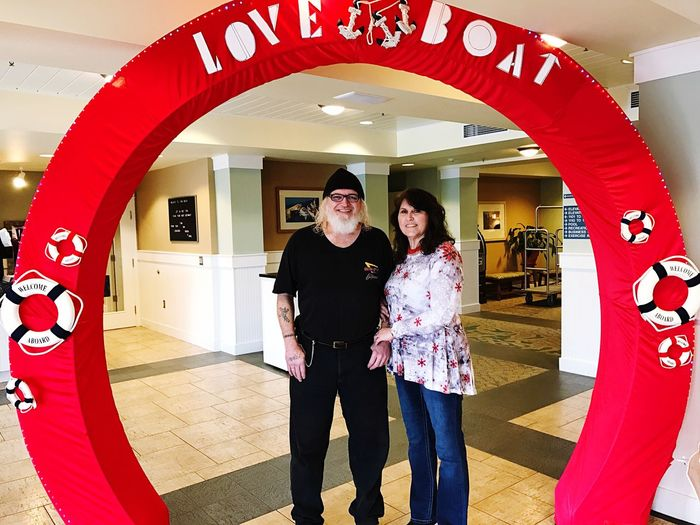 The WorldMark Resort At Long Beach had a fun Love Boat Theme over Saint Valentine's Day Weekend so my Sweetheart and I had a Photo of us taken by the purser. 😉 Streamzoo Family WorldMark By Wyndham WorldMark The Club Resort Life Couple Love Marriage  Retirement Life GOD IS GOOD!