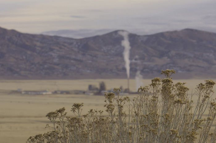An incinerator near Aragonite, Utah beyond the dry sage. Sage Smoke Beauty In Nature Blur Day Incinerator Landscape Mountain Nature No People Non-urban Scene Outdoors Scenics Sky Tranquil Scene Tranquility