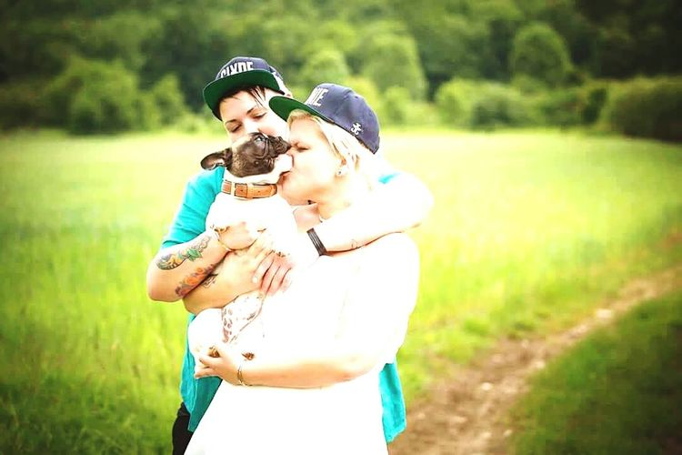 Weddings Around The World bonnie&clyde french bulldog our babygirl Biting Nose Cheese!