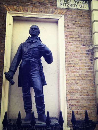 A rather dapper gent I discovered surveying the beauty that is Fitzroy Square...