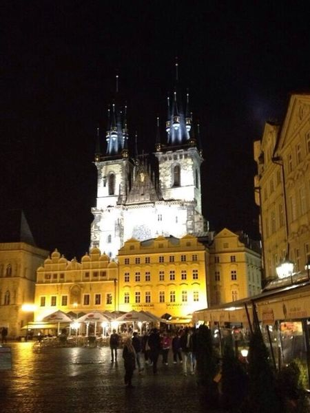 Staroměstské Náměstí Piazza della Città Vecchia Prague Square Night Lights Chiesa di San Nicola Church Lights Me Around The World Eye4photography  Walt Disney