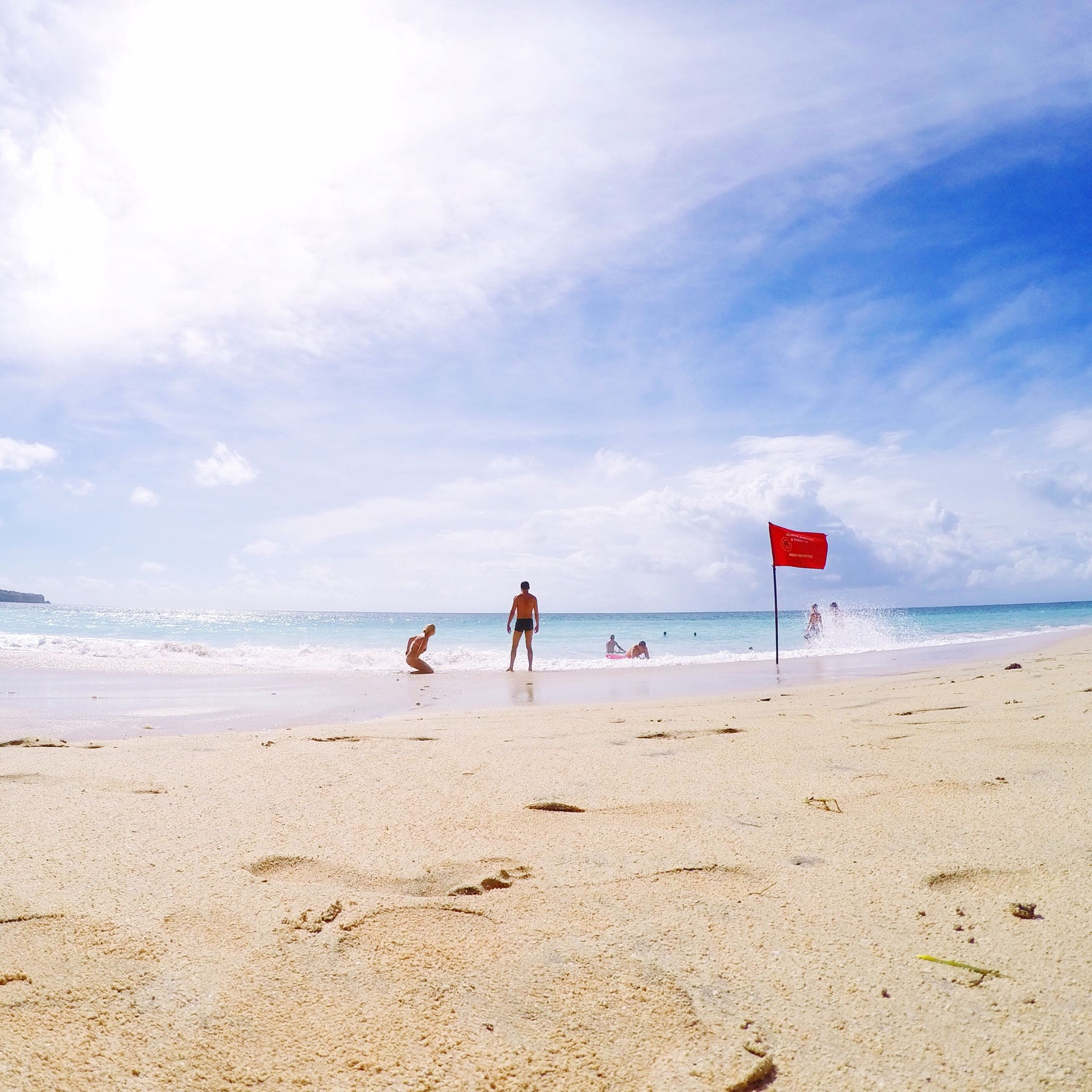 beach, sea, sand, horizon over water, shore, water, sky, leisure activity, lifestyles, vacations, tranquility, scenics, tranquil scene, beauty in nature, enjoyment, men, cloud - sky, nature, summer