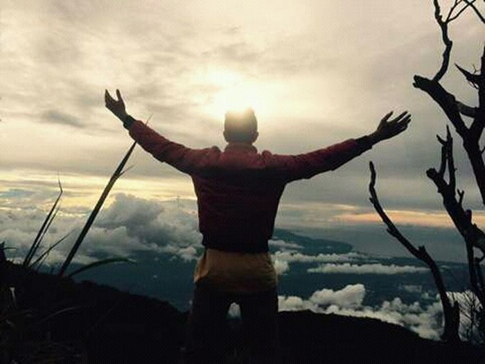 south manokwari bald mountain One Man Only Only Men One Person Adult Adults Only People Cloud - Sky Nature Rear View Men Sky Sunset Day Outdoors Sportsman Mountain Standing Landscape