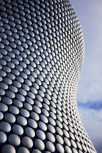 Selfridges Birmingham . UK Pattern No People Shape Sky Design Close-up Architecture Circle Cloud - Sky Repetition Built Structure Modern Geometric Shape Day Technology Nature Metal Low Angle View Textured  Outdoors Selfridges Selfridges & Co Selfridgesbirmingham Architecture Architecture_collection Art Circles In Circles Circles My Best Photo