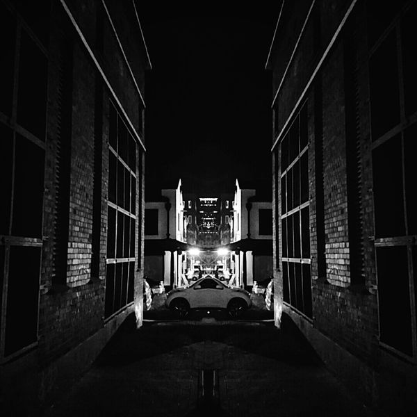 Lights Xperiaphotography XPERIA Urban Street Photography South Africa City Street Johannesburg Maboneng Precinct Light And Shadow Alley Brick Building Black & White Black And White Photography Reflection Perspective Jozi