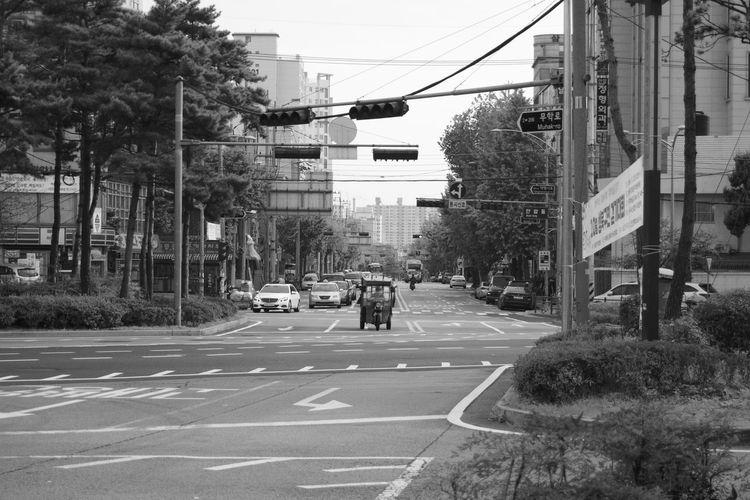 City Day Korea No People Outdoors Road Sign Seoul Sky Tree
