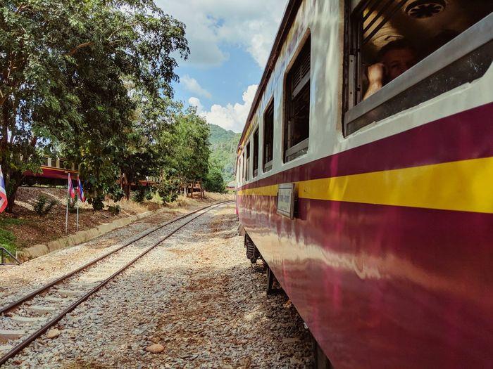 Transportation Rail Transportation Death Railway Public Transportation Day One Person Thailand Train