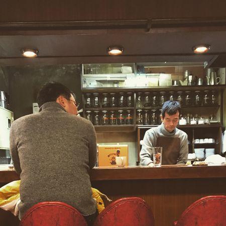 Tokyo,Japan Coffeebreak Indoors  Men Sitting People Business Rear View Adult