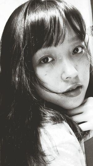 Asian Girl Long Hair Noperfectionhere Monochrome Monochrome Photography