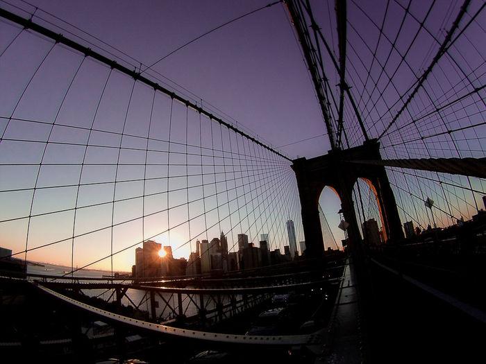 Manhattan sunset from Brooklyn Bridge Newyorkcity Brooklynbridge Manhattansunset First Eyeem Photo