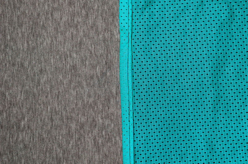 Full frame shot of turquoise and gray textiles