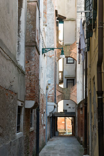 Narrow street in old town Venice, Italy Old Town Street Gate Narrow Street No People