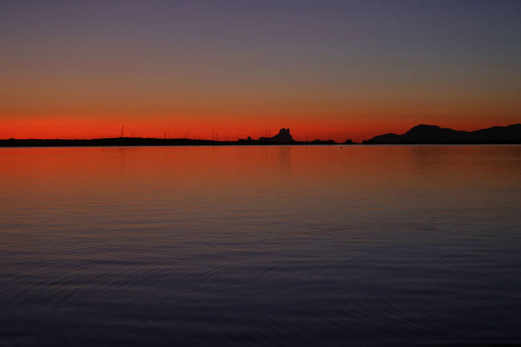 The force of the sunsets in formentera with its vivid colors is unique in the world