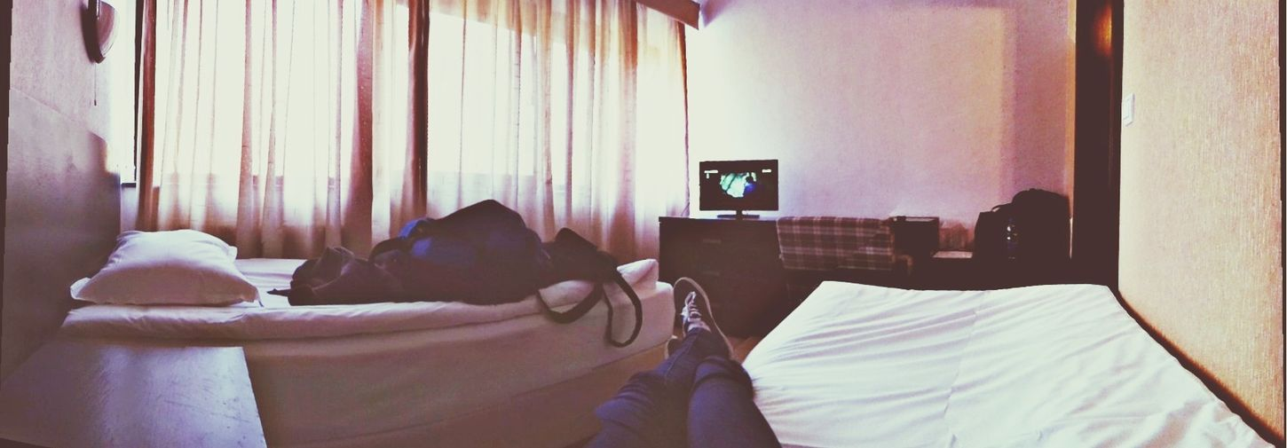 Chilling for awhile Hotel Room Panorama Hello World