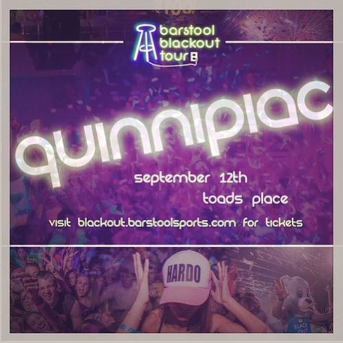 Barstoolblackout Quinnipiac Toadsplace Itscoming party obviouslyhappening