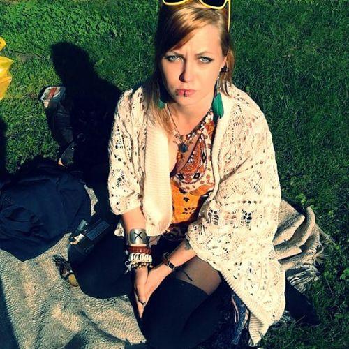 Grumpy face! But still enjoying the summer!