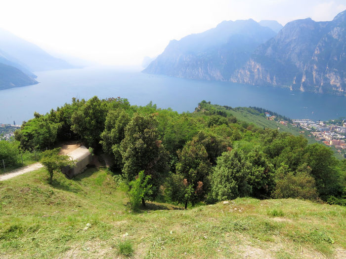 A Sense Of Freedom Beauty In Nature Day Environment Garda Lake High Angle View Land Landscape Mountain Nature No People Outdoors Plant Scenics - Nature Tranquil Scene Tranquility View From Above Water