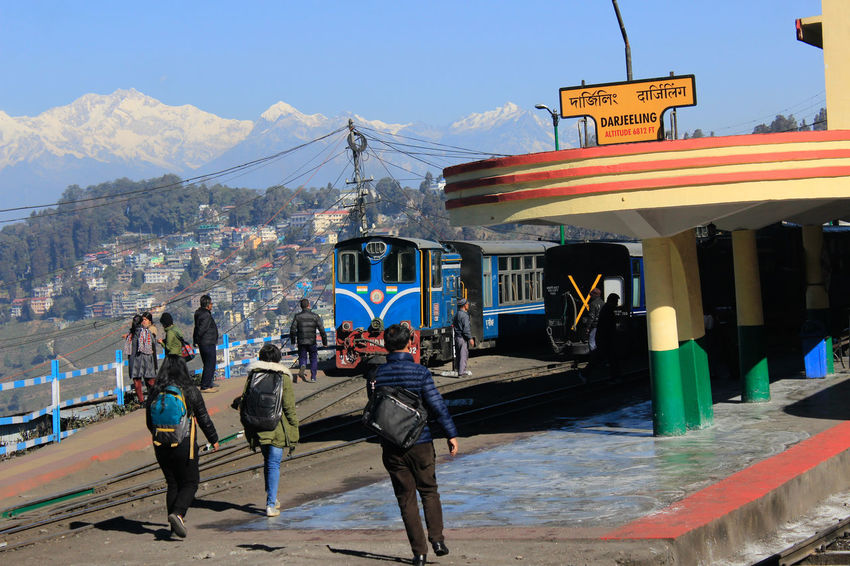 "The Darjeeling Himalayan Railway, also known as the ""Toy Train"", is a 2 ft (610 mm) narrow gauge railway that runs between New Jalpaiguri Himalayan Railway Built Structure Darjeeling Himalayan Railway Day Haritage India Old Outdoors People Railway Toy Train"