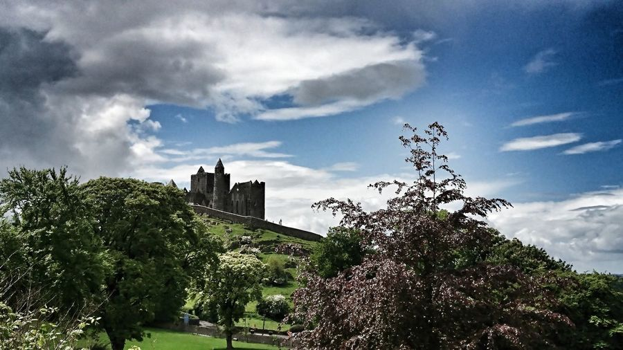 Rock Of Cashel Cloud - Sky Architecture Built Structure Sky Tree Outdoors Building Exterior Day No People Low Angle View Nature Beauty In Nature Travel Photography Ireland Landscape Landscape_photography Architecture Sony Taken With Xperia First Eyeem Photo