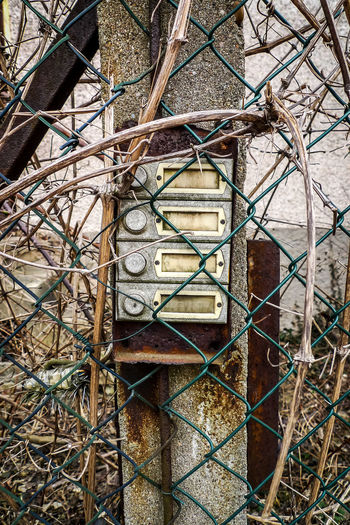 Metal Day No People Fence Abandoned Rusty Built Structure Boundary Chainlink Fence Architecture Damaged Obsolete Outdoors Old Run-down Barrier Weathered Security Wall - Building Feature Close-up Deterioration Power Supply Urbex Urbexexplorer