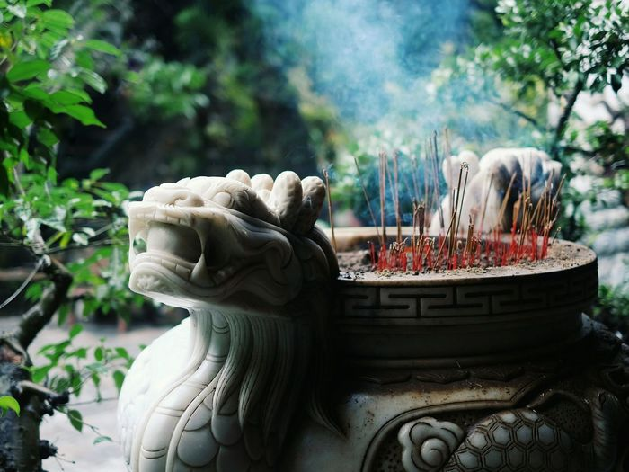 Statue Sculpture Outdoors Cultures No People Day Buddhism Buddhist Temple Religion And Beliefs Prayers