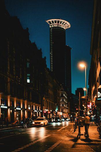street scene in