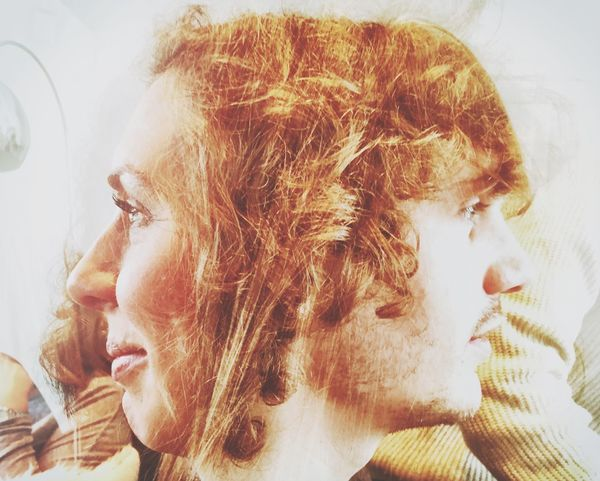 Cut And Paste brother and sister Family Profile Shot Mobile Friendship Curls EyeEmNewHere