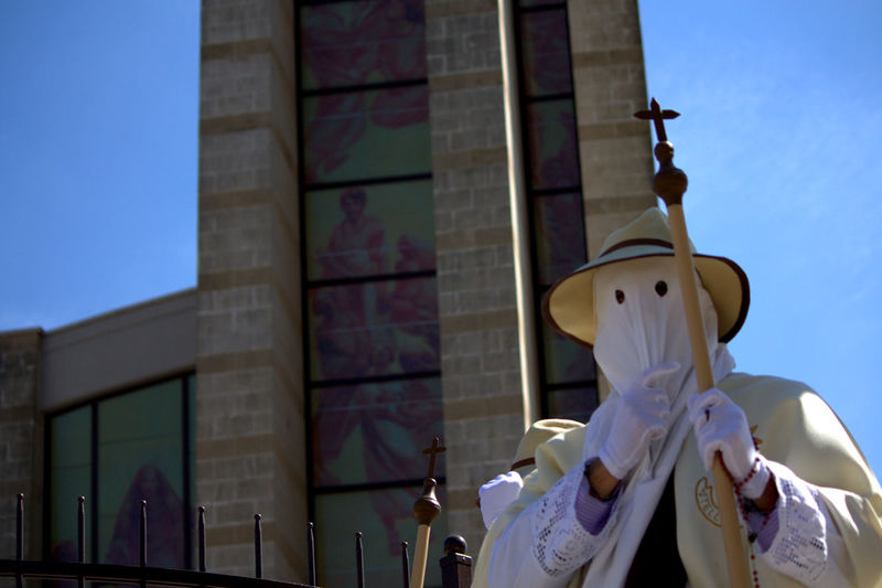 People in costume at francavilla fontana during easter