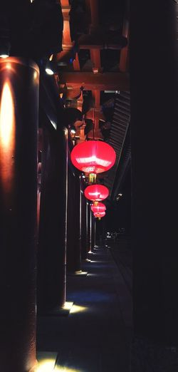 Illuminated Lighting Equipment Night No People Indoors  Hanging Decoration In A Row Glowing Lantern Light Red Chinese Lantern Electric Light Ceiling Repetition Built Structure Architecture